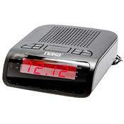 Rádio Relógio Digital Am/Fm Com 2 Alarmes Preto Nrc174 Naxa
