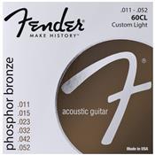 Encordoamento Violão Aço 0.11 Bronze Fosforoso 60Cl Fender