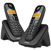 Telefone Sem Fio Digital Id Com Ramal Preto Ts3112 Intelbras
