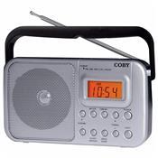 Rádio Relógio Portátil Am Fm Sintonia Digital Cr201 Coby