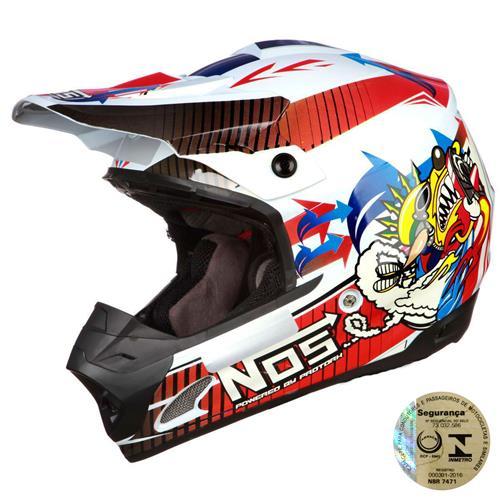 Capacete Integral Para Motocross Th1 Nos Pro Tork