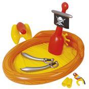 Banheira Navio Pirata Com Brinquedos Infláveis 1937 Mor