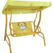 Cadeira De Balanço Infantil 2 Lugares Amarela Bulldog 2072 Mor