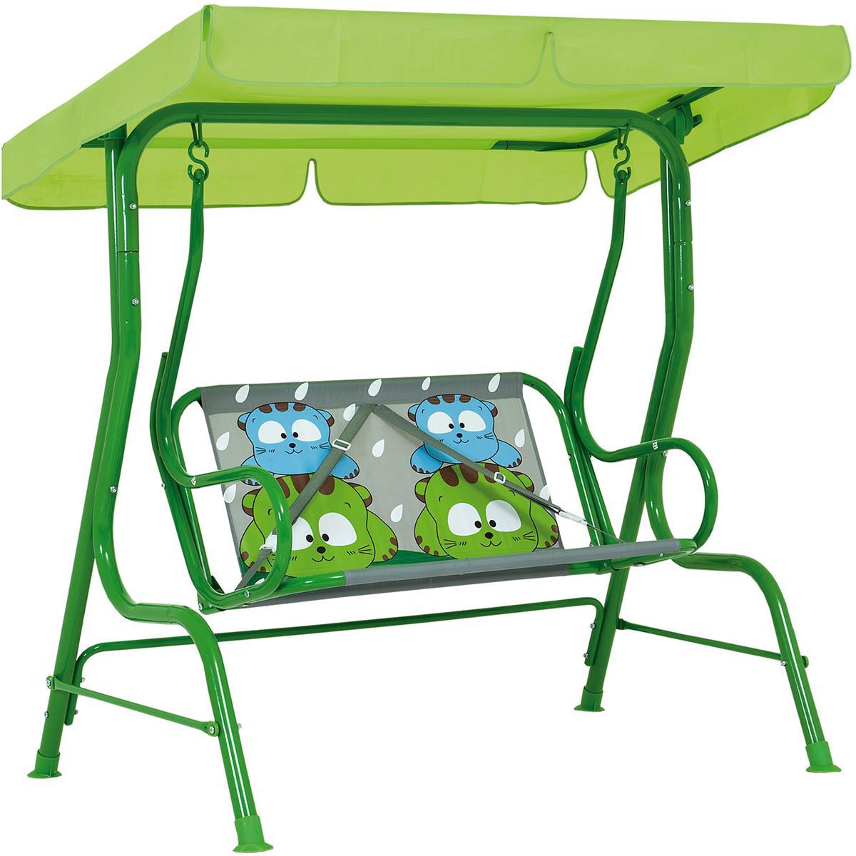 Cadeira De Balanço Infantil 2 Lugares Gatoons 2073 Mor
