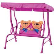 Cadeira De Balanço Infantil 2 Lugares Ursinho 2084 Mor