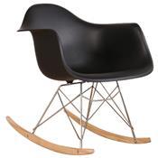 Cadeira Eames Eiffel Wood Com Balanço Pm084 Pelegrin Preto