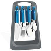 Faqueiro 24 Peças Azul Com Suporte 23198020 Tramontina