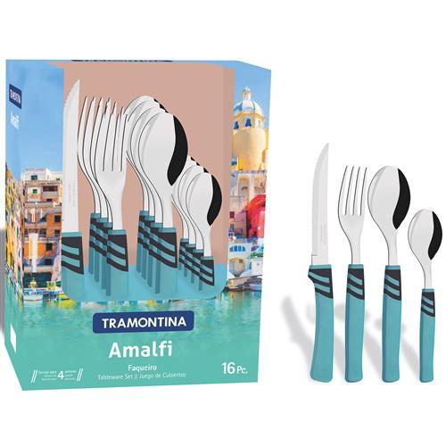 Faqueiro 16 Peças Aço Inox Amalfi 23499171 Tramontina