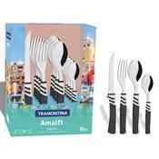 Faqueiro 16 Peças Preto Aço Inox Amalfi 23499671 Tramontina