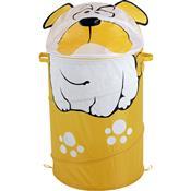 Baú Porta-Objetos Infantil Unissex 80Cm Bulldog Mor