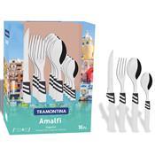 Faqueiro 16 Peças Branco Aço Inox Amalfi 23499871 Tramontina