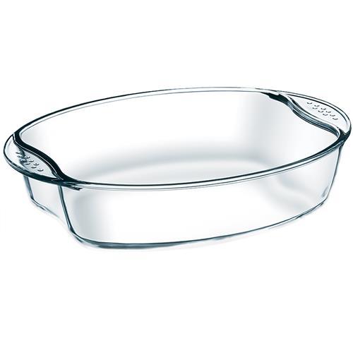 Assadeira De Vidro Oval Cheff Com Alças 0201302 Brinox