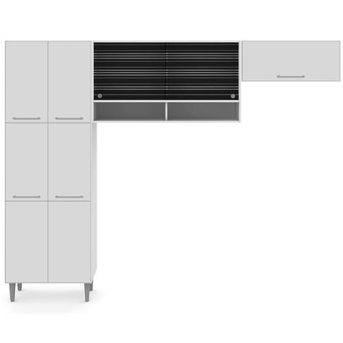 Cozinha Compacta Elis Branco G2002209AB Madesa