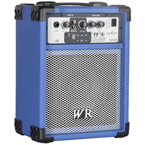 Caixa De Som Multiuso 40W RMS 2 Vias Azul RG230A Wr Áudio