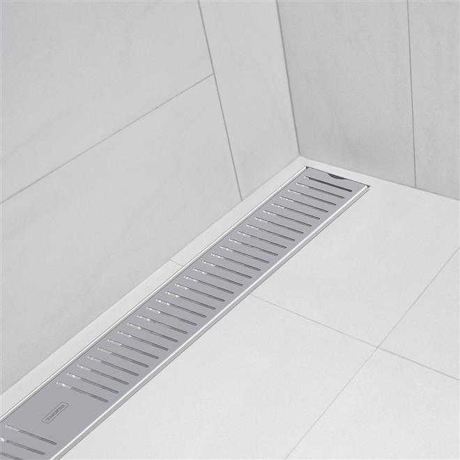 Ralo Slim Para Banheiro Aço Inox 90Cm 94535109 Tramontina  Tramontina -> Ralos De Pia De Banheiro