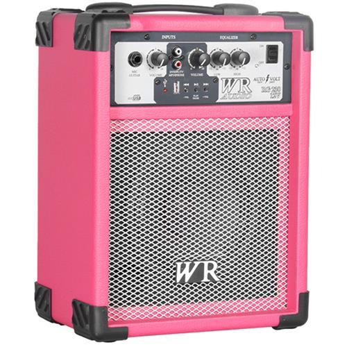 Caixa De Som Multiuso Rosa 40W Bivolt Usb  Wr Áudio