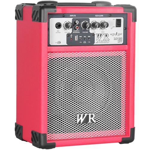 Caixa De Som Multiuso Vermelha 40W Bivolt USB  WR Áudio