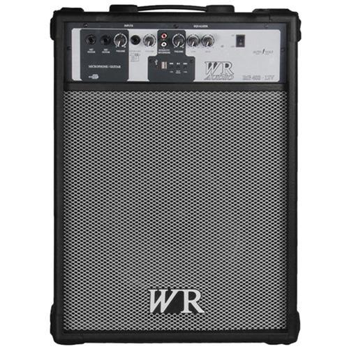 Caixa De Som Multiuso Preta 60W Bivolt Usb Wr Áudio