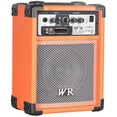 Caixa De Som Multiuso Laranja 40W Bivolt Bluetooth USB WR Áudio