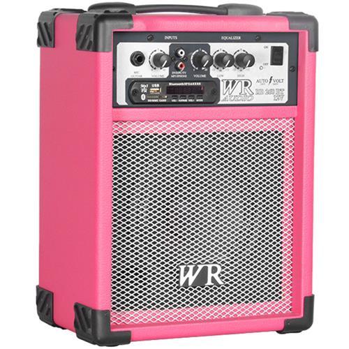Caixa De Som Multiuso Rosa 40W Bivolt Bluetooth USB WR Áudio