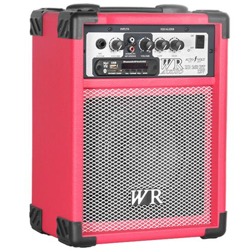 Caixa De Som Multiuso Vermelho 40W Bivolt Bluetooth Usb Wr Áudio