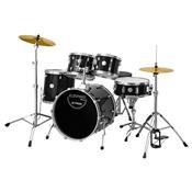 Bateria Stage Completa Com Bumbo 20 Preto X-Pro Drums