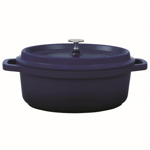 Caçarola Oval Grand Gourmet Azul 26X20x10cm 4786126 Brinox