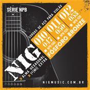 Encordoamento Para Violão Em Aço 011/050 NPB520 Nig
