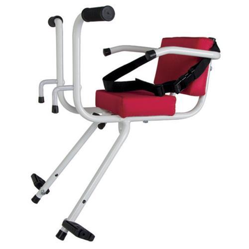 Cadeirinha Dianteira Branca E Vermelha Para Bicicleta 9075 Cyel