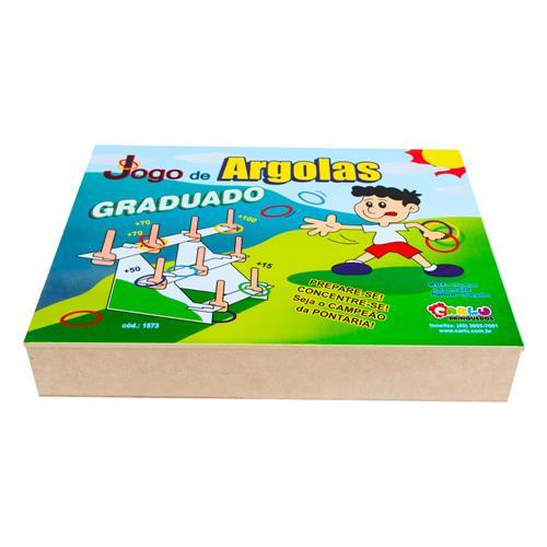 Jogo De Argolas Graduado Em Mdf Com 31 Peças 1573 Carlu