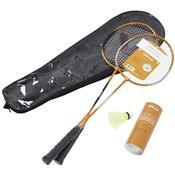 Kit Badminton Raquetes Petecas De Nylon Para Lazer 6Pçs Vb002 Vollo
