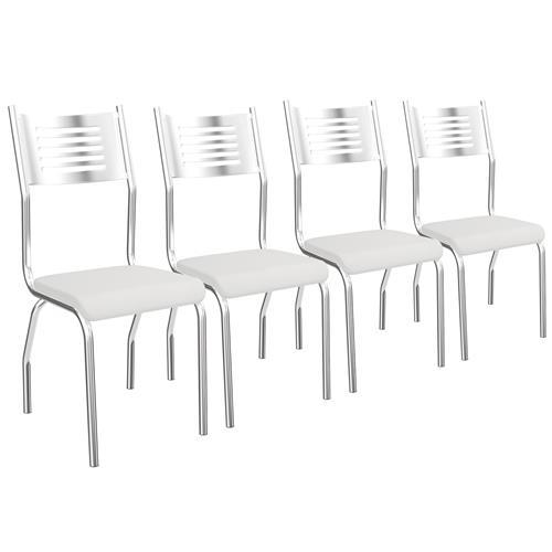 Cadeira Munique Cromada De Metal 4 Peças 4C047 Kappesberg
