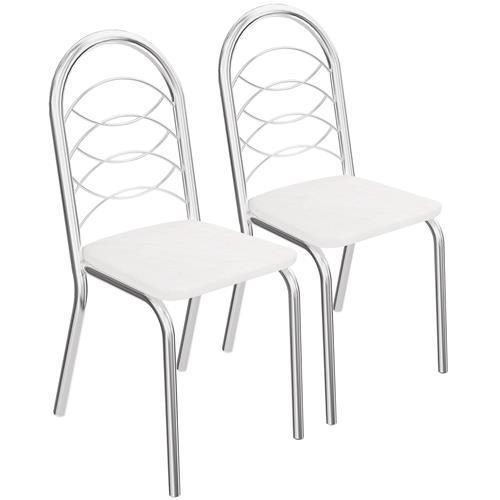 Jogo De Cadeiras Holanda Cromada 2 Peças 2C009cr Kappesberg