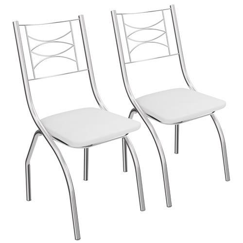 Conjunto Cadeiras Italia Cromada 2 Peças 2C018 Crome