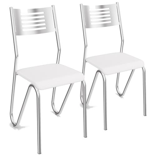 Conjunto 2 Cadeiras Nápoles Cromada 2C045CR Kappesberg