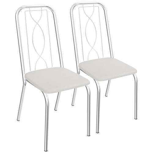 Conjunto 2 Cadeiras Viena De Metal Cromada C072 Kappesberg