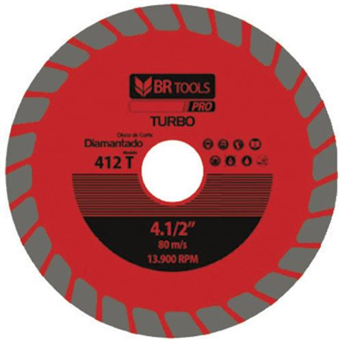 Disco Diamantado Turbo 110mm 412t Br Tools Pro BR Motors