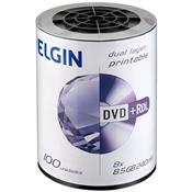 Mídia Dvd-R 8.5Gb 8X 240 Min. Dual Layer Print Bulk 268089 Elgin