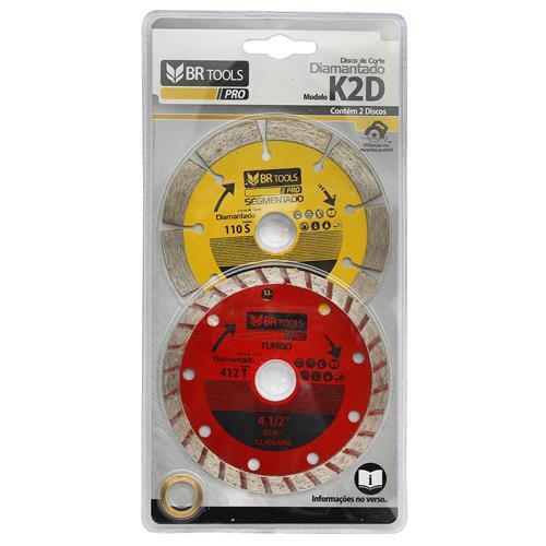 Kit 2 Discos Diamantados Segmentados 20mm K2D Br Motors