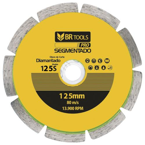 Disco Diamantado Segmentado 125mm 125s 125MM125S Br Motors