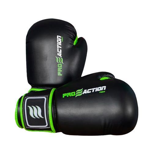 Luva Para Boxe e Muai Thai 16oz Preta F016 ProAction Sports