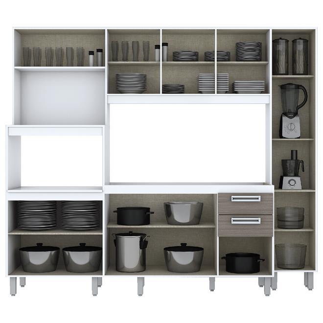 Kit Cozinha Compacta Com Vidro 10 Portas B102 Briz  Briz # Cozinha Compacta Para Kitnet