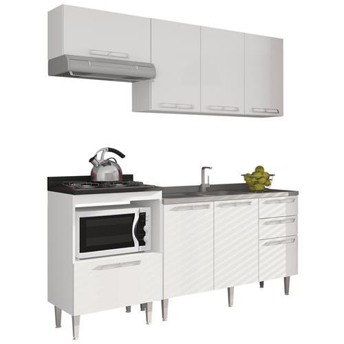 Cozinha 10 Modulada Branca 5 Módulos Art In Móveis