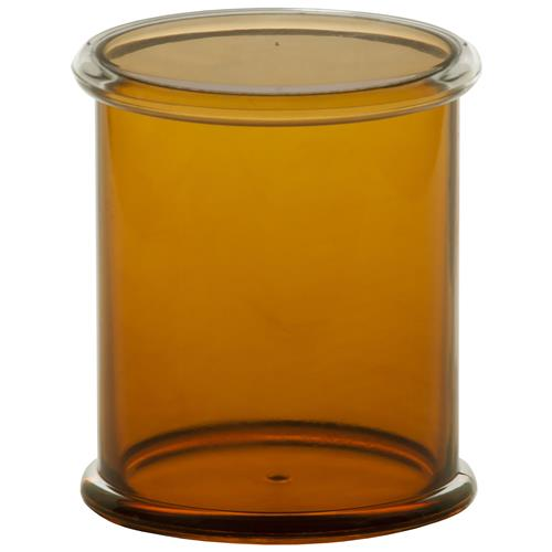 Porta Cotonete Em Plástico 9.4Cm Âmbar 151Ab Ricaelle