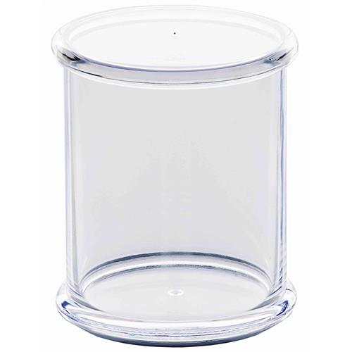 Porta Cotonete Em Plástico 10.3Cm Transparente 151R Ricaelle