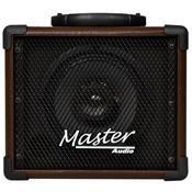 Caixa De Som Multiuso 20W Rms Marrom Mu80btmr Master Áudio
