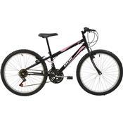 Bicicleta Mtb Aro 24 Feminina 18 Marchas Preto 7133 Polimet