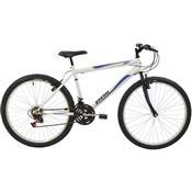 Bicicleta Mtb Aro 26 Masculina 18 Marchas Branco 7144 Polimet