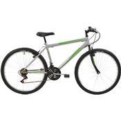 Bicicleta Mtb Aro 26 Masculina 18 Marchas Prata 7145 Polimet