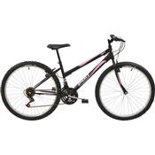 Bicicleta Mtb Aro 26 Feminina 18 Marchas Preto 7135 Polimet